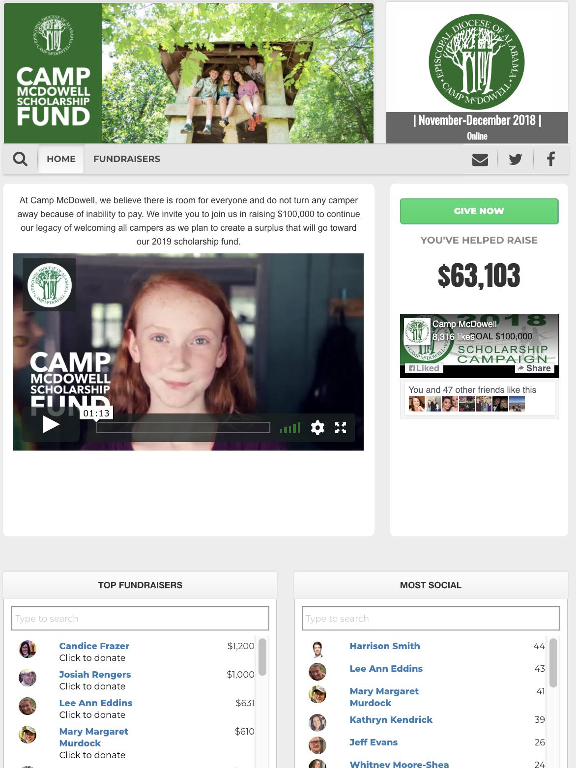Online Campaign Website